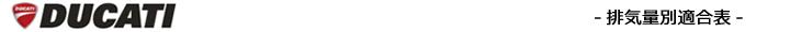 排気量別カラーチェーン適合表(DUCATI)