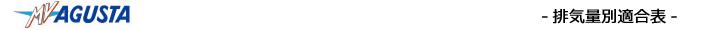 排気量別カラーチェーン適合表(MVAGSTA)