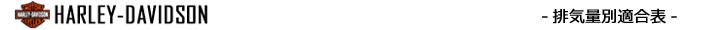 排気量別エボリューション適合表(ハーレーダビッドソン)