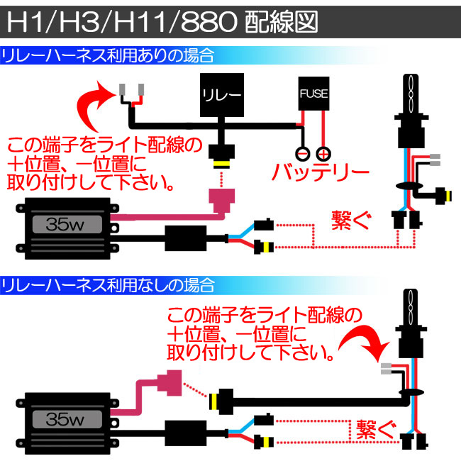 配線図 H1/H3/H11/880