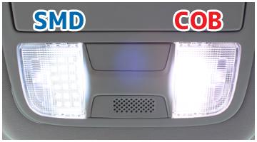 SMDと比べてより自然な白色発光