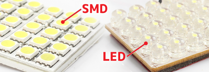SMDとLEDの比較画像